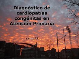 Diagnóstico de cardiopatías congénitas en Atención Primaria