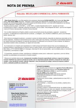 seleccion tecnico comercial galicia elesa+ganter iberica sl