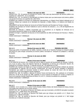 INDICE 2002 - Periódico Oficial