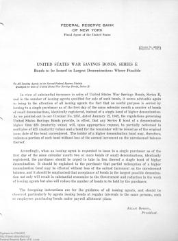 Federal Reserve Bank of New York Circular Series