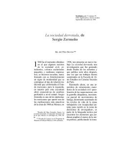 La sociedad derrotada, de Sergio Zermeño