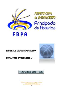 Sistema de competición Infantil femenino 1ª.
