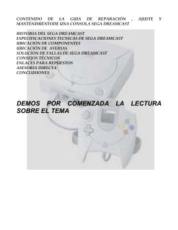 Reparaciion Sega DREAMCAST