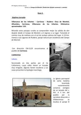 Ruta 5 - Ayuntamiento de Villanueva de los Infantes