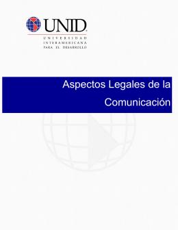 Aspectos Legales de la Comunicación