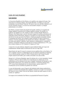 GUÍA DE SAN MARINO