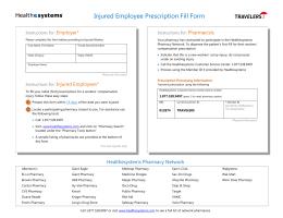 Injured Employee Prescription Fill Form
