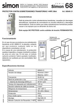 Características Funcionamiento Especificaciones técnicas