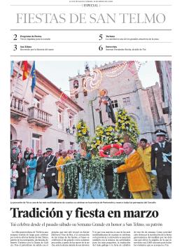 FIESTAS DE SAN TELMO Tradición y fiesta en