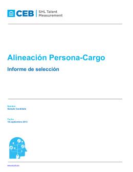 Alineación Persona-Cargo Informe de selección