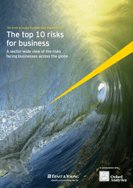 The top 10 risks for business