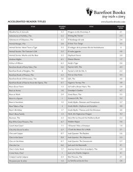 AR Levels PDF - Barefoot Books