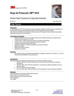 Ropa de Protección 3MTM 4510