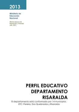 Perfil EDUCATIVO Departamento risaralda