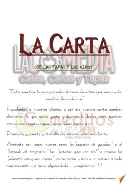 LA CARTA - La Comedia