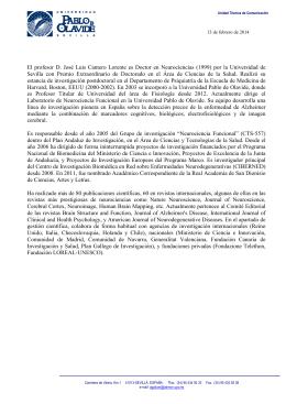 CV resumido del profesor José Luis Cantero Lorente