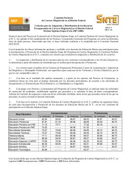 Comisión Paritaria de Carrera M agisterial en el Distrito