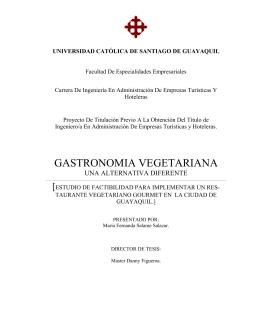 GASTRONOMIA VEGETARIANA - Universidad Católica de Santiago