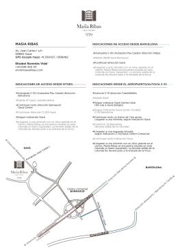 masia ribas indicaciones de acceso desde barcelona