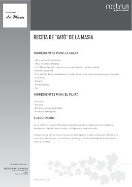 """RECETA DE """"XATÓ"""" DE LA MASIA"""