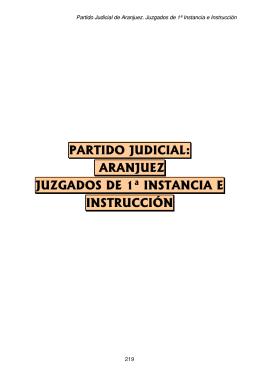 partido judicial: aranjuez juzgados de 1ª instancia e instrucción