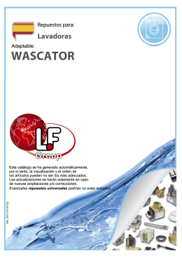wascator - LF spare parts