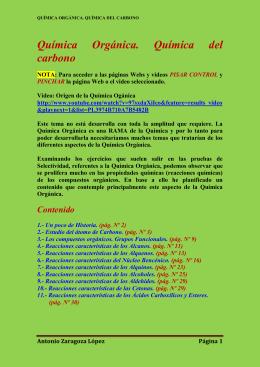 Tema 10: química orgánica. Química del carbono