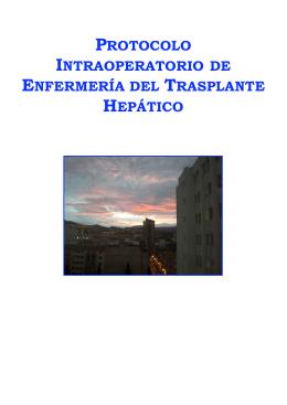 Protocolo Intraoperatorio de Enfermería del Trasplante Hepático