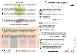CARTA POSTRE GRACIA - POSTRES / DESSERTS