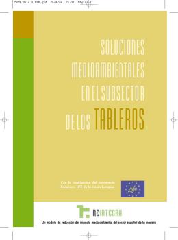 Soluciones medioambientales en el subsector de los tableros