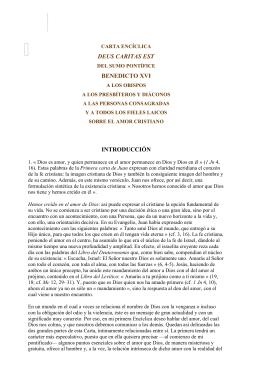 """Carta Encíclica """"Deus Caritas Est"""""""