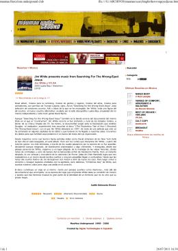 Críticas y crónicas culturales en Maumau Underground