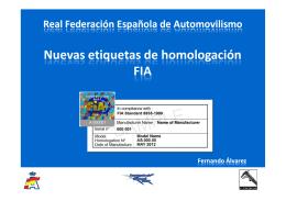 Nuevas etiquetas de homologación FIA