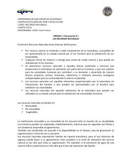 UNIDAD I Los recursos naturales doc 1