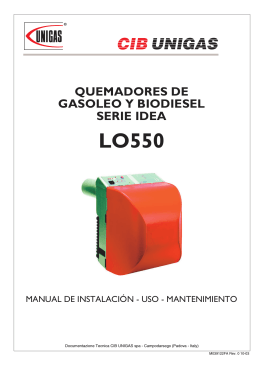 QUEMADORES DE GASOLEO Y BIODIESEL SERIE IDEA