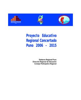 proyecto educativo regional concertado puno 2006 - 2015 - SSII-PER