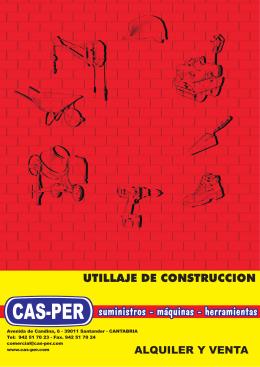 UTILLAJE DE CONSTRUCCION - Cas-Per
