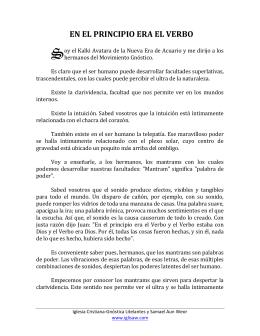 EN EL PRINCIPIO ERA EL VERBO