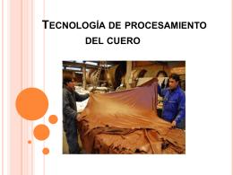 Unidad III Tecnología de procesamiento del cuero