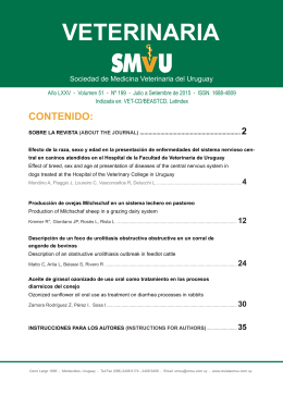 VETERINARIA - Revista SMVU