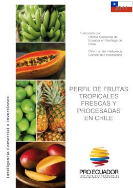 pérfil de frutas tropicales frescas y elaboradas