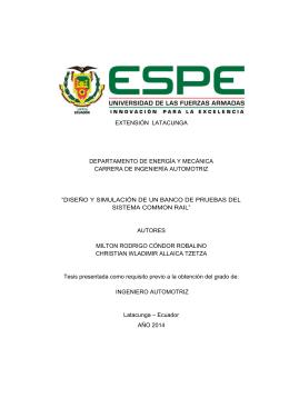 diseño y simulación - Repositorio Digital ESPE