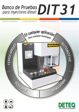 Banco de Pruebas para inyectores diesel DIT31