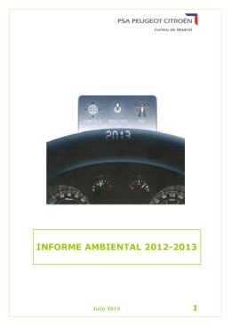 INFORME AMBIENTAL 2012-2013