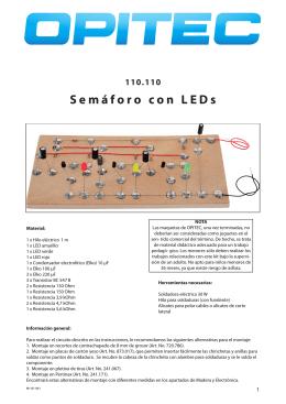 Semáforo con LEDs