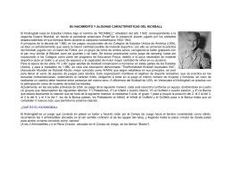 SU NACIMIENTO Y ALGUNAS CARACTERISTICAS DEL KICKBALL