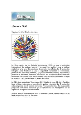 ¿Qué es la OEA? - El Diario Exterior