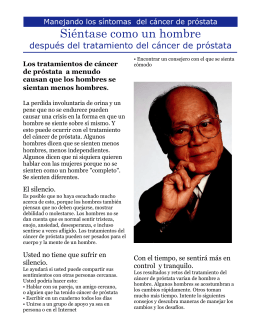 PROSTATE CANCER FACT SHEET - Michigan Cancer Consortium