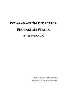 programación didáctica educación física - Multiblog