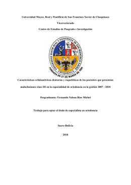 Protocolo de tratamiento para Maloclusiones Clase III